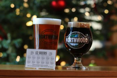 """Two of the 12 holiday beers Northwood Public House and Brewery will be serving. On the left is the Samuel Smith's """"Winter Welcome Ale"""" from Tadcaster ..."""