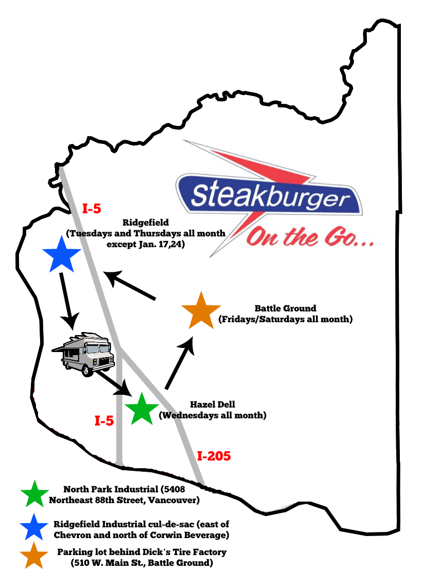 Steakburger Food Truck Schedule
