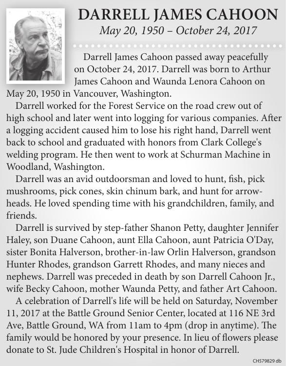 Darrell James Cahoon