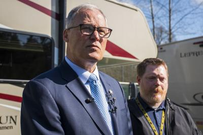Gov. Jay Inslee Takes Tour of Potential COVID-19 Quarantine and Isolation Site in Centralia