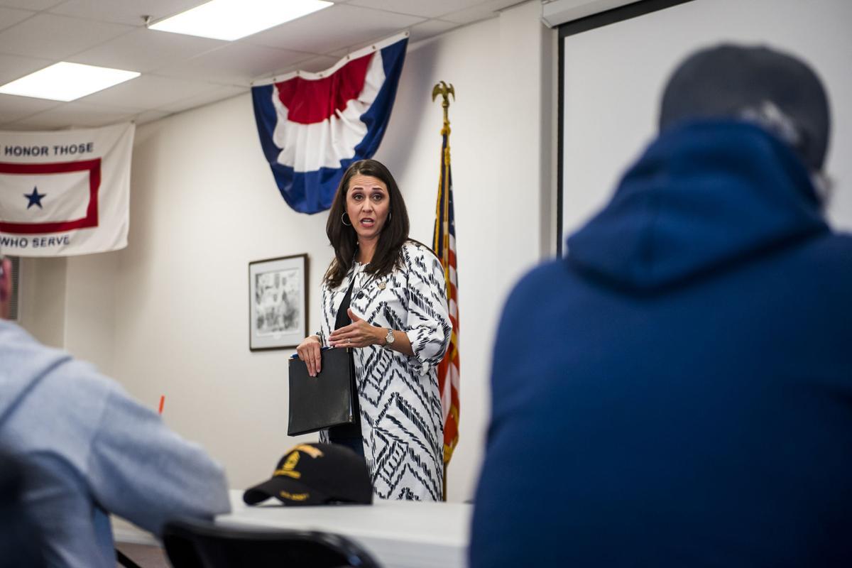 Jaime Herrera Beutler Speaks with Veterans in Chehalis