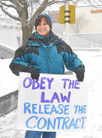 PHOTOS: Parkhouse protesters brave snow in Norristown