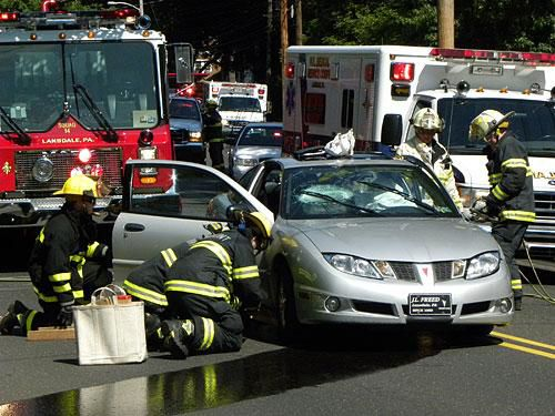 Accident sends driver to the hospital (video)