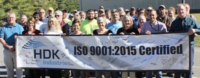 HDK Industries, Inc., awarded ISO 9001 certification