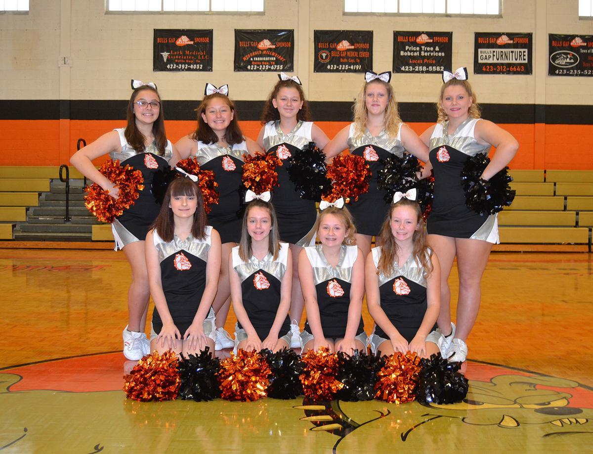 Bulls Gap cheerleaders