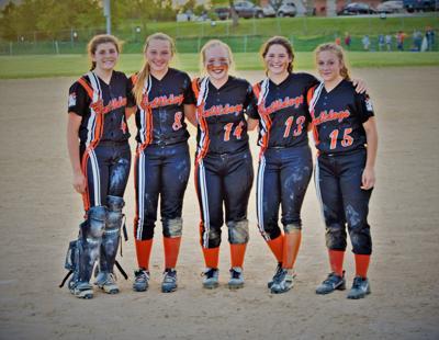 2019 Bulls Gap Lady Bulldogs softball team eighth graders