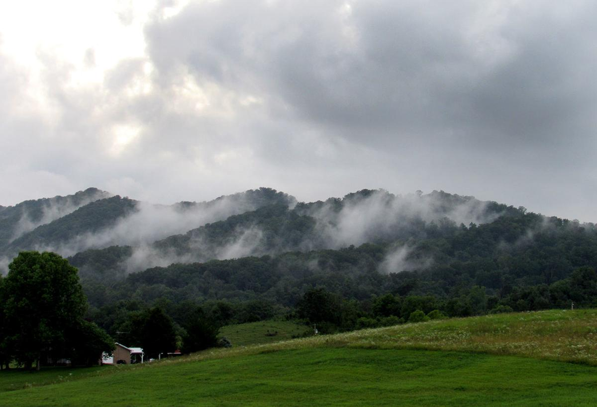 Clinch Mountain in the clouds