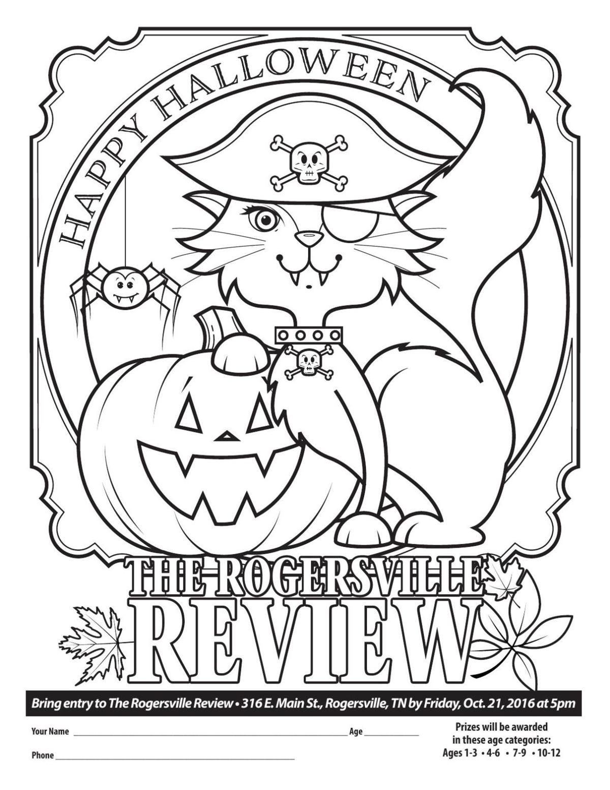 download pdf halloween coloring contest 2016 - Halloween Coloring Contest 3