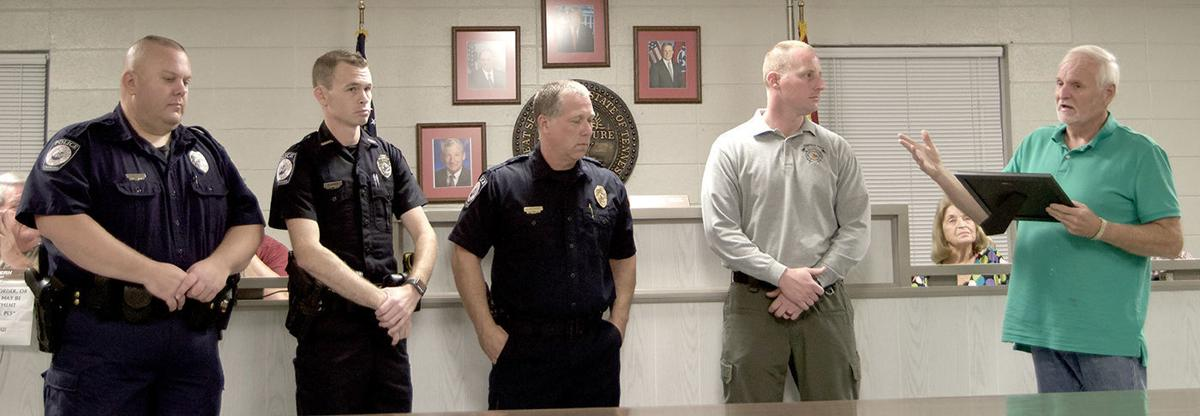 Church Hill officers recognized