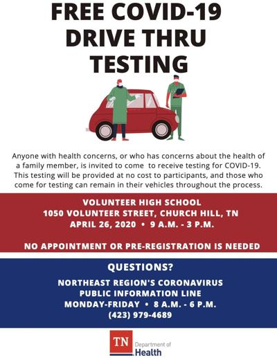 Health Department offering free COVID-19 testing Sunday