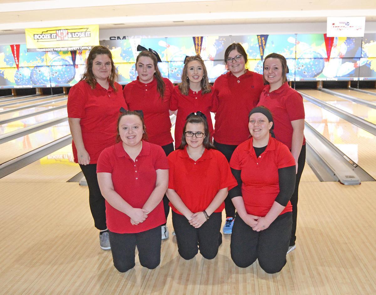 Cherokee's state-qualifying girls bowling team