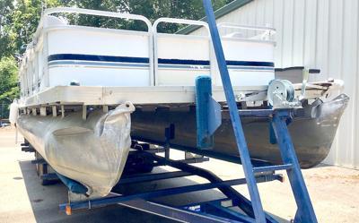 Damaged Ratliff boat