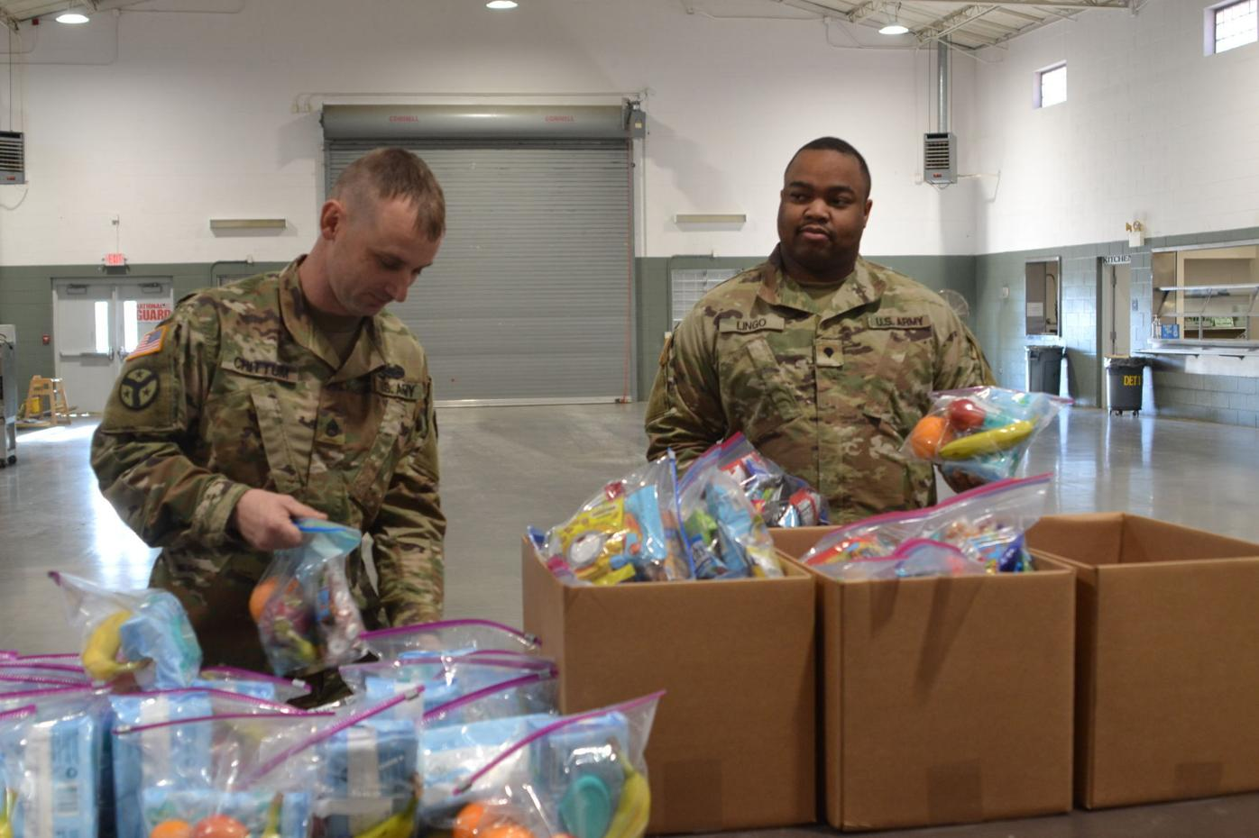 Project Serve Our Soldiers delivers gift baskets to Rogersville National Guard Unit deploying D.C.