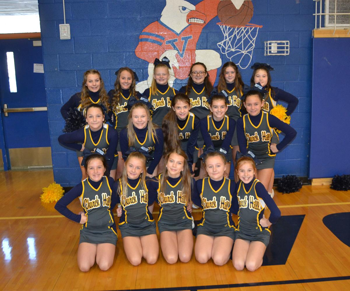 Church Hill Middle School cheerleaders