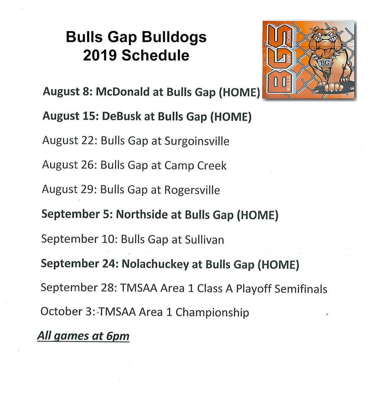 Bulls Gap sked