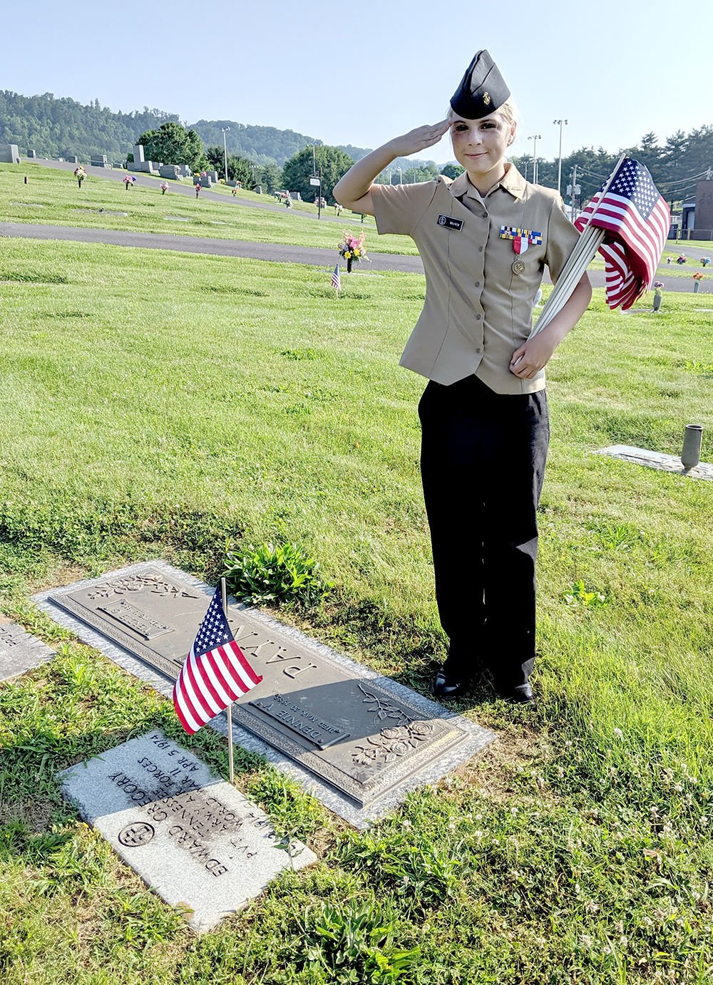 Showing respect and love for deceased Veterans