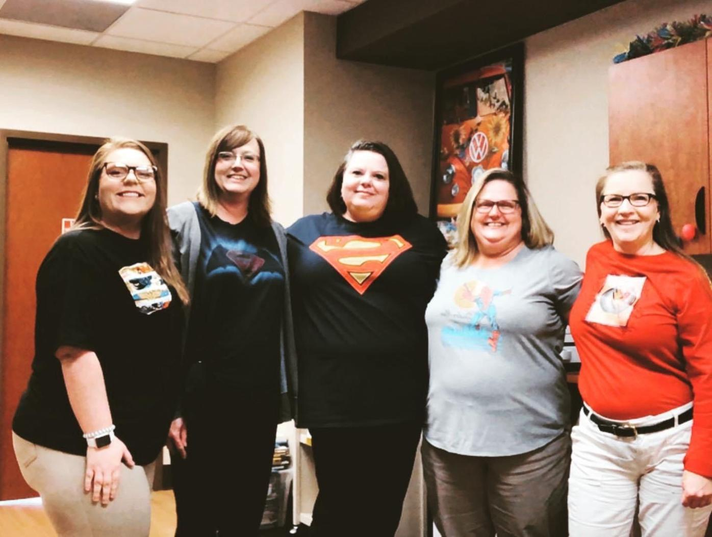 Healthcare workers at Rogersville Medical Complex brighten morale with superhero attire