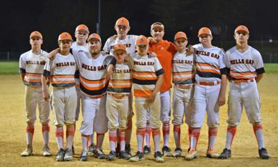 2019 Bulls Gap Bulldogs baseball team eighth graders