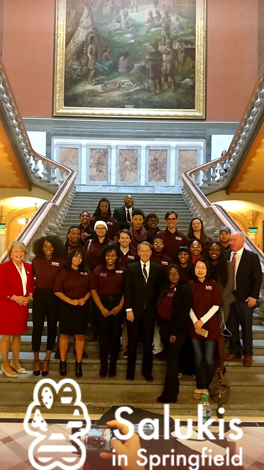 SIU Students at State Capitol