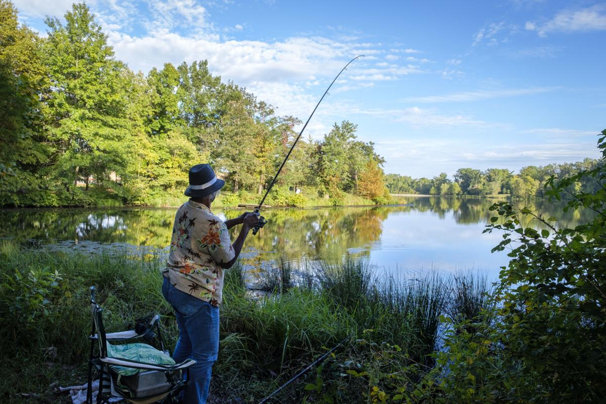 Fishing in Campus Lake