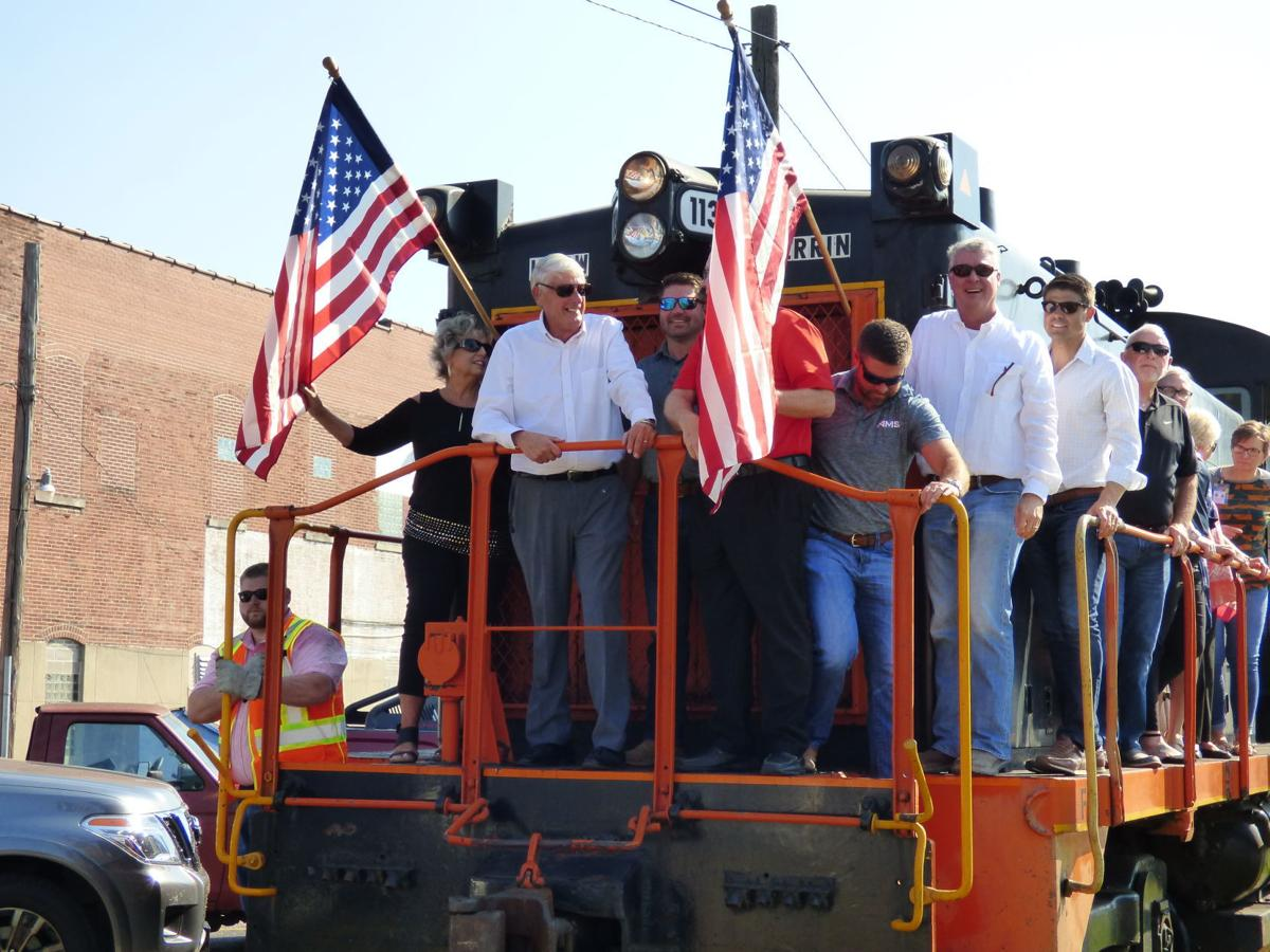 Herrin Railroad inaugural run