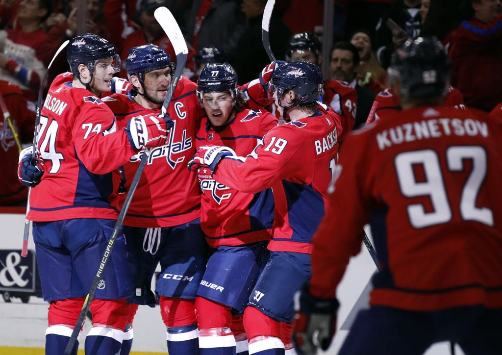 Bruins Capitals Hockey. Washington defenseman John Carlson ... 3368dc4a6870