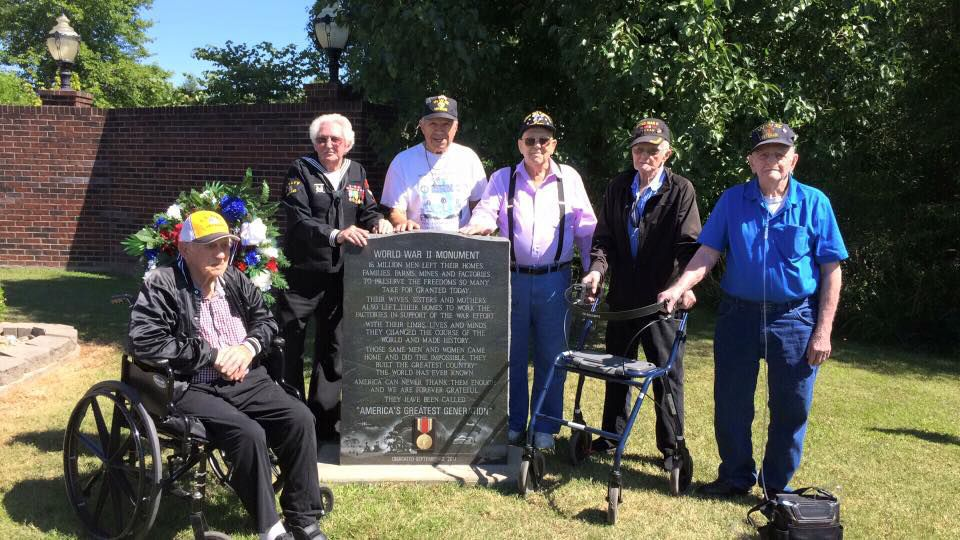 WWII vets attend memorial unveiling at Marion VFW 1301