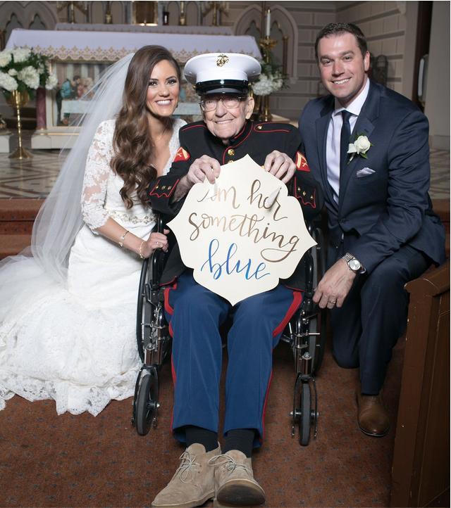Bill Eblen at his niece's wedding