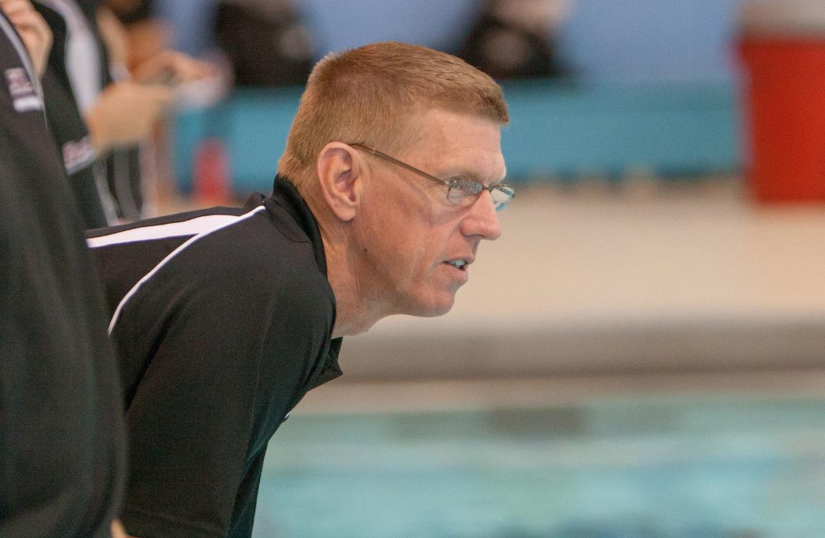 SIU swimming coach Rick Walker