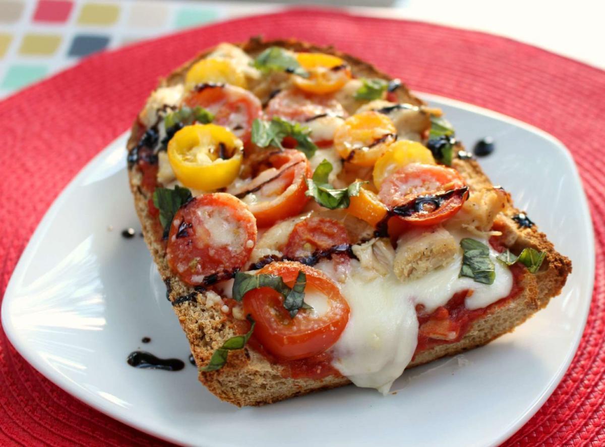 Taste   Caprese Pizza Bread