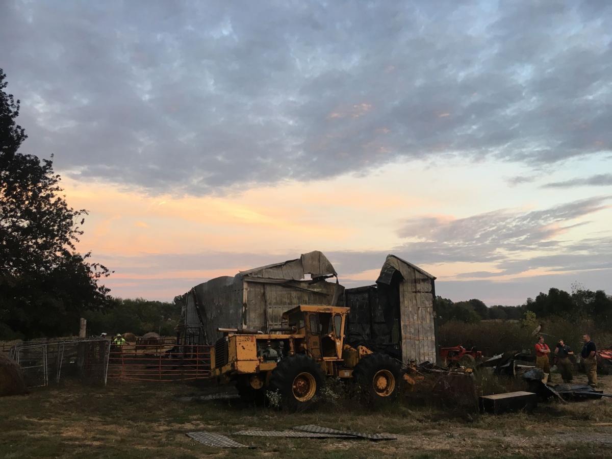 Barn destroyed by fire on Finney Road outside Murphysboro