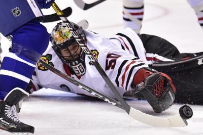 Blackhawks Maple Leafs Hockey