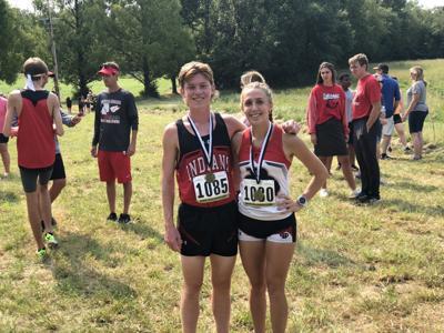 Du Quoin XC Runners Landon Swiney and Olivia Phillips