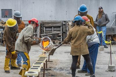 Iron Pour at the Foundry