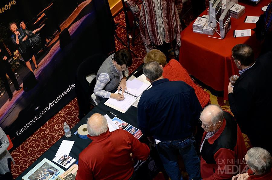 Registration at the 2017 Truthseeker's Homecoming