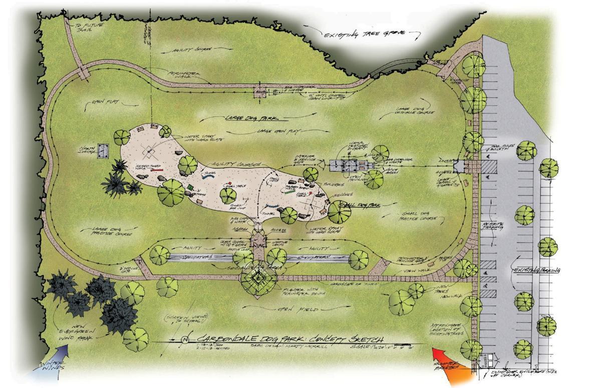 Friends of Carbondale Dog Parks conceptual drawing