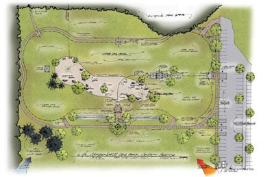 Friends of Carbondale Dog Parks conceptual drawing
