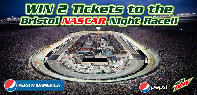 WIN 2 Tickets to the Bristol NASCAR Night Race! - Please turn images on