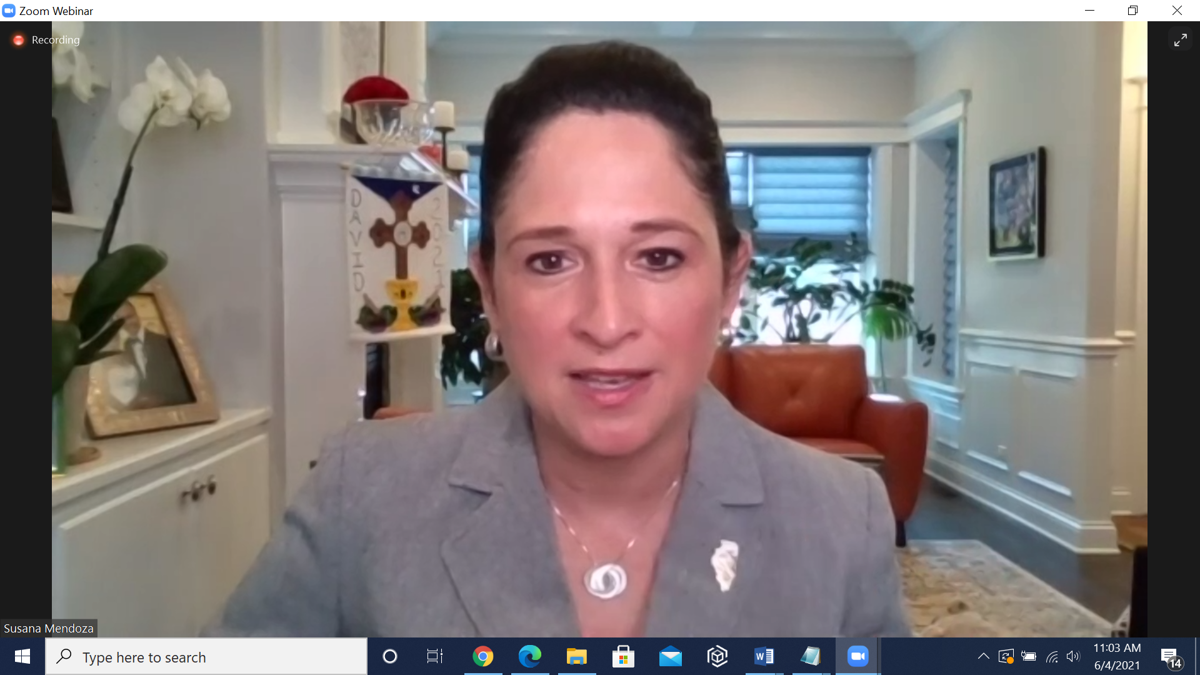 Illinois Comptroller Susana A. Mendoza Virtual Discussion Screenshot