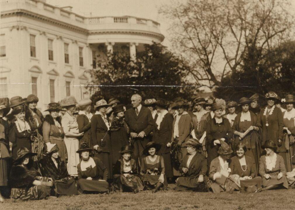 1921: Women ask president for equal rights legislation