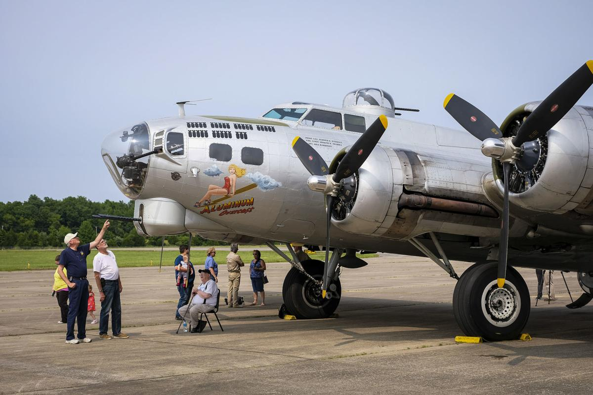B-17 bomber at the Veterans Airport of Southern Illinois