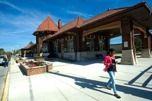 Old Illinois Central train depot a city landmark