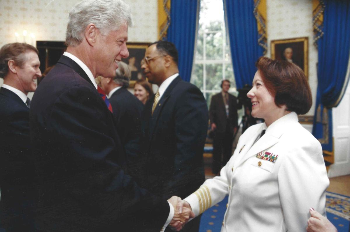 Vice Admiral Nancy Brown USN (Ret) w/ Bill Clinton