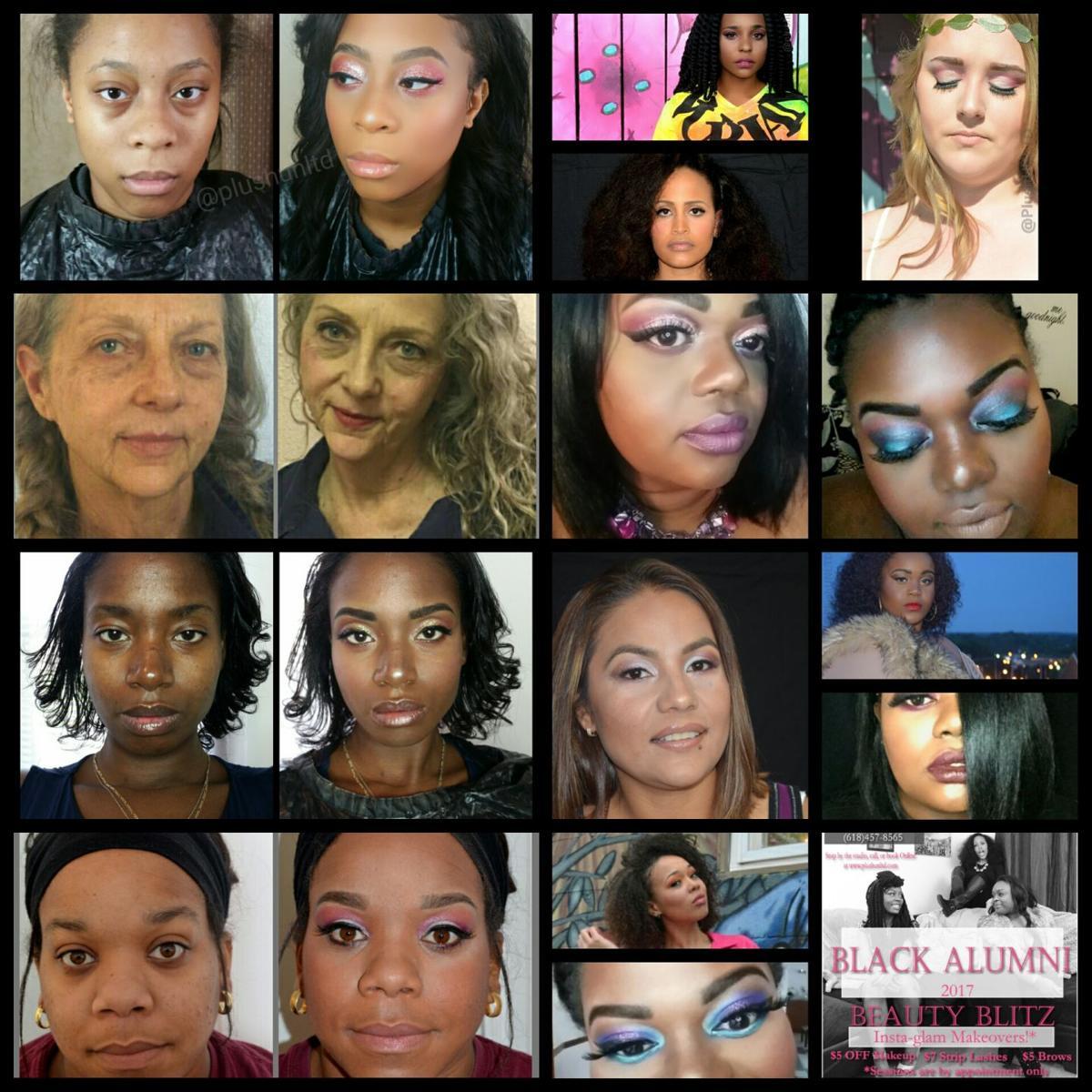 beauty salon carbondale collage
