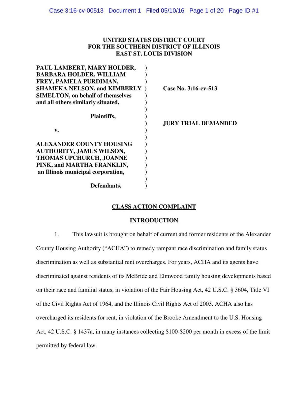Lawsuit against ACHA
