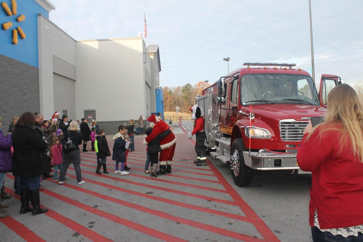 Santa at 2016 Shop With A Hero at Wal-Mart in Murphysboro