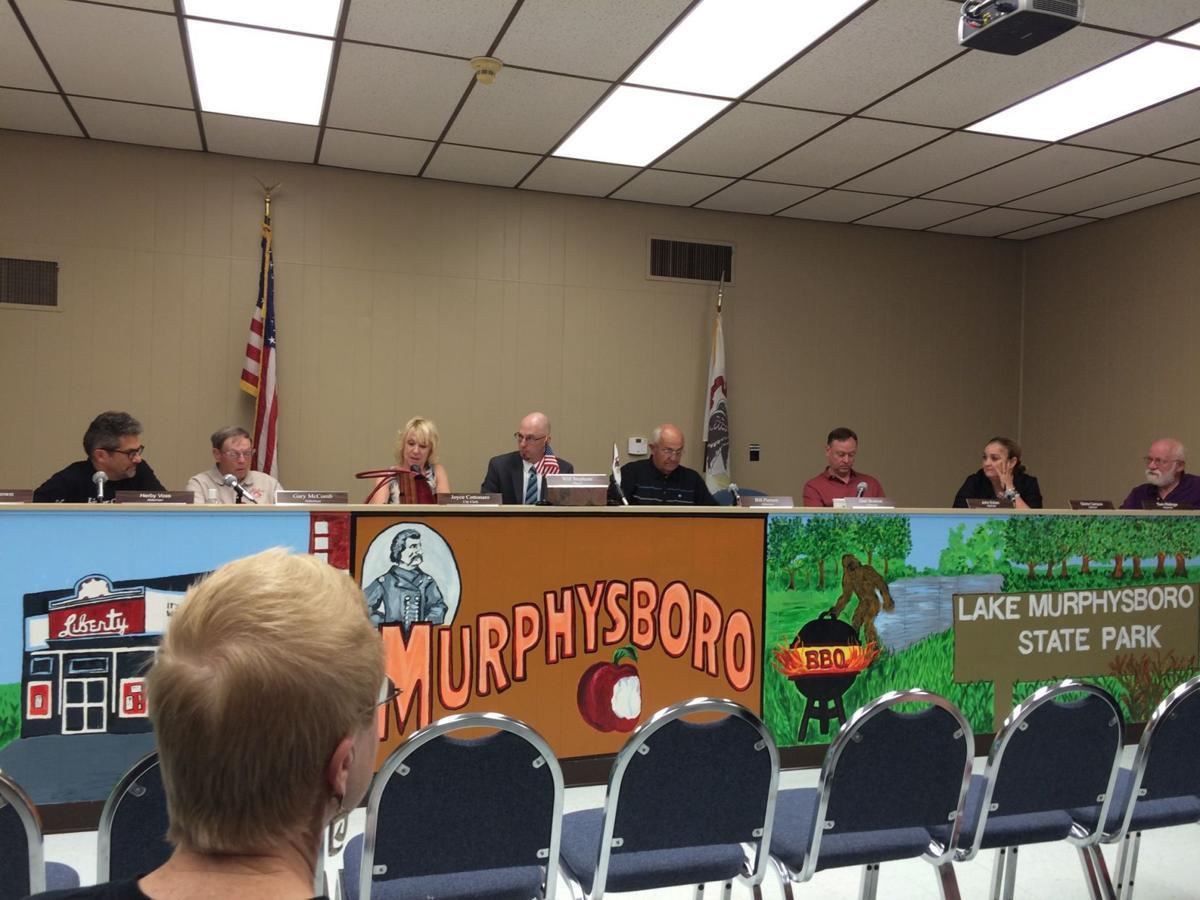 Murphysboro City Council opening and awarding bids on abandoned properties