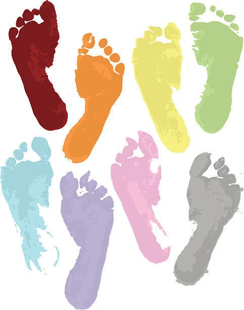 Colored footprints births
