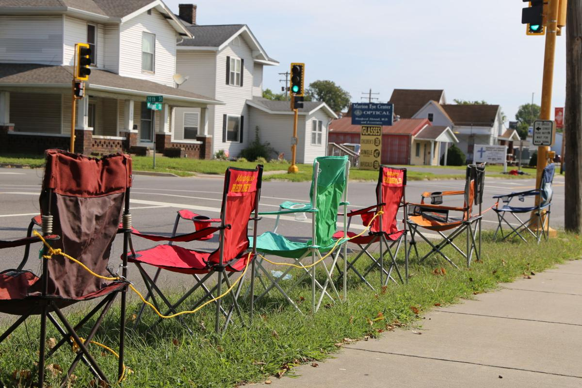 Murphysboro Apple Festival Grand Parade lawn chairs