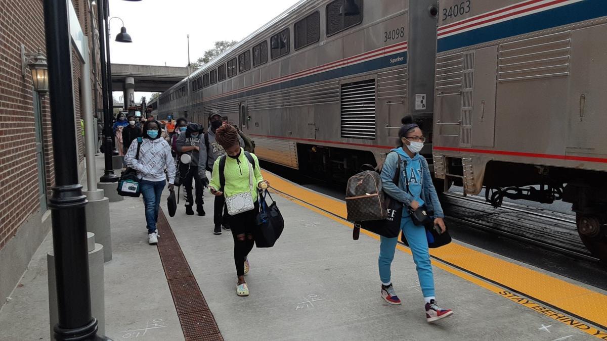 Amtrak riders